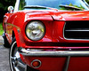 This beauty belongs to my friend Mary Susan . . . 1965 Red Mustang Convertible, automatic with black interior!